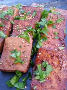 Tofu caramelise